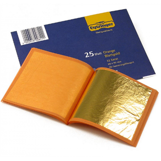 GOLD LEAF BOOK 80X80MM X 25 SHEETS/EA