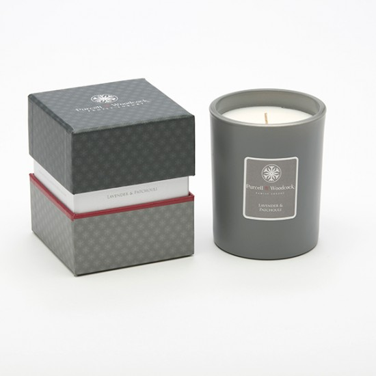 Purcell & Woodcock Luxury Glass Candle, Lavender & Patchouli