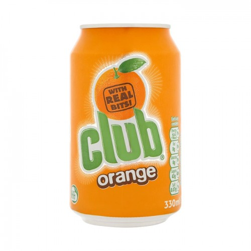 Club Orange Can 330 ml x 6 Pack