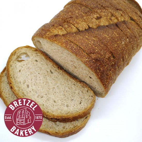 Bretzel Brown Sour Dough Loaf Sliced