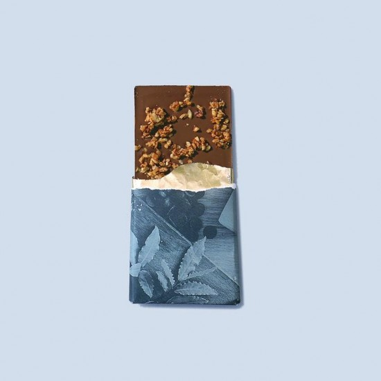 Bean and Goose Bold & Spicy Hazelnuts Dark Chocolate Bar