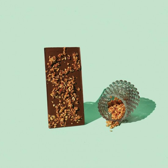 Bean and Goose Sweet & Spicy Hazelnut Milk Chocolate Bar